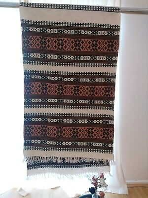 Hand Woven Romanian Traditional Towel, Over 50 Years Old