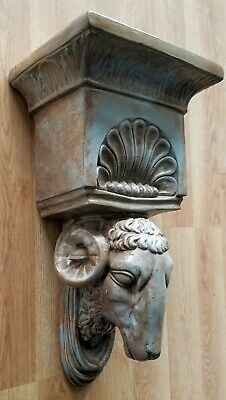 Ram Head Regency Plaster Wall Bracket Corbel Shelf