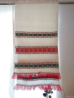 Hand Woven Romanian Traditional Towel, Over 50 Years Old.