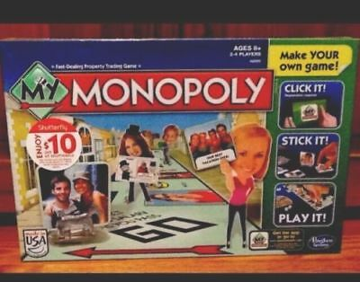 MY MONOPOLY A8595 Family Board Game Make YOUR Personal CUSTOM VERSION Age 8+ NIB