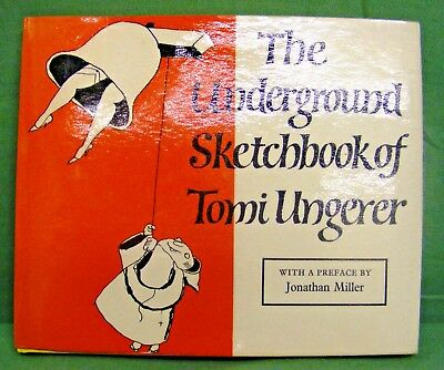 Very Rare - The Underground Sketchbook Of Tomi Ungerer,1St Edition,1964.