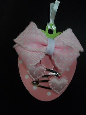 baby/girls small/mini hair clips slides barrettes,hair bow polka dot hearts sets
