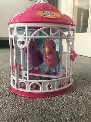 Little Live Pets 2 Birds in 1 Pink Cage. Pink And Purple Bird. VGC