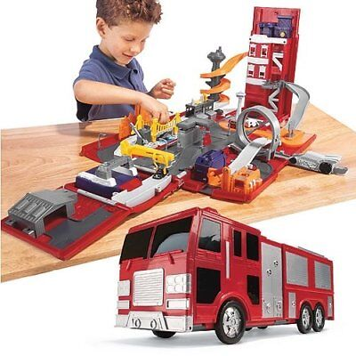 Chad Valley Take Along Fire Station Play Set Engine &Micro Cars Machines