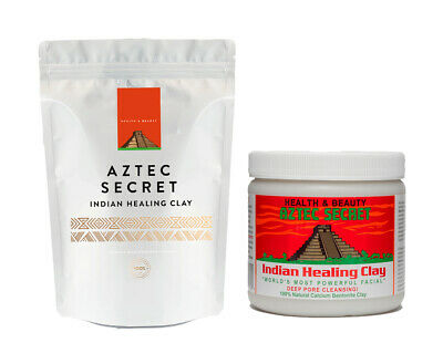 Aztec Indian Secret Healing Calcium Bentonite Clay Face Mask 1lb (10% FREE!)