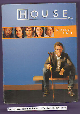 House MD Season One DVD 2007 3Disc Box Set Widescreen Hugh Laurie New/Sealed