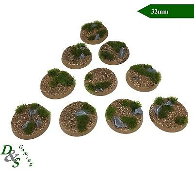 32mm Round Dirt Plains Resin Scenic Bases (x10) Warhammer 40K Sigmar