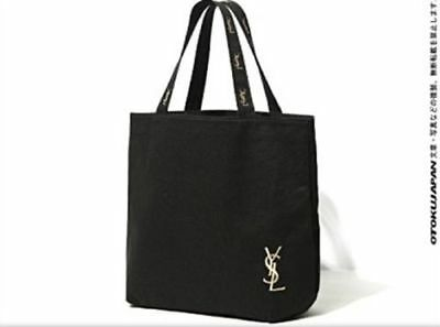 Japanese Magazine Edition YSL Golden Embroidery Canvas Tote Hand Bag