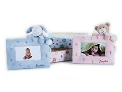 Gorgeous Lelly 20 x 14 cm Plush Photo Frame with adorable teddy detail  PINK ONE