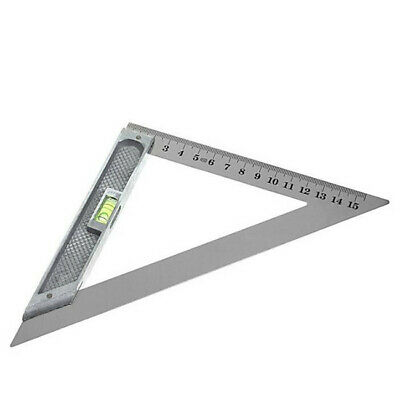 150mm 90° Triangle Ruler Alloy with Horizontal Bead Woodworking Measuring Tool A