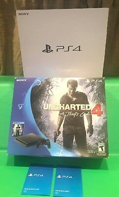 8ce1593bc70 EMPTY BOXES ONLY 1 Playstation 4 Jet Black 500 GB NO PS4 Console NO Game