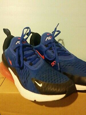 competitive price 32abb ba1b8 MENS NIKE AIR Max 270 size 8.5 BLUE Black Orange White - Used