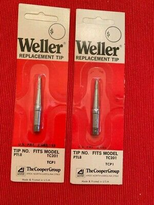 "TWO NOS WELLER PTL8 SOLDERING IRON SCREWDRIVER TIPs, 5/64"" x 0.8mm"