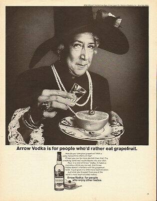 1970 Vintage ad for Arrow Vodka~Lady with a BIG Hat`jewelry (121013)