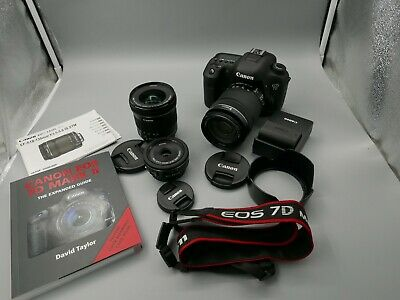 EXC+ Canon EOS 7D Mark II DSLR Camera 10-18mm 18-135MM STM and EF-S 24MM extras!