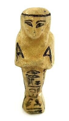 Rare unique Ancient Egyptian Royal Shabti Ushabti Hieroglyphs Statue Faience art