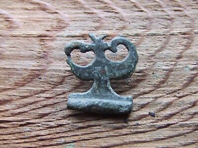 Roman Britain.   A Bronze Silvered Belt Mount.  Rare.     A Nice Example..