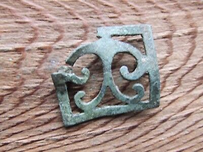 Roman Britain.   A Large Bronze Belt Mount.  Rare.     A Nice Example..