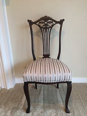 Pair of Antique Carved Mahogany Chairs$165 shipping by Greyhound Package Express