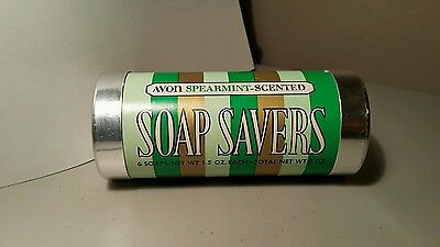 Avon Soap Savers Soap 6 Life Saver Shapped Spearmint Scented Soaps from 1973