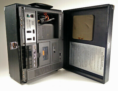 Sharp Cassette Recorder RD-680AV Pro Series PA System Hard Case Black Vtg