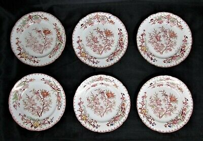 Sarreguemines, 6 Assiettes Porcelaine Decor N° 252
