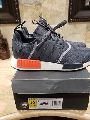 08de56ee4a33 Adidas NMD R1 Grey Red Wool 3M Reflective S31510 Men s Size 10 OG Infrared