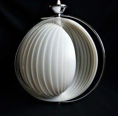 VINTAGE 60s 70s VERNER PANTON DENMARK ERA SPACE AGE MOON LAMP LIGHT MID CENTURY