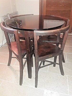 Frank Reider & Sons Seatmore Ice Parlor Black Carrara/Sani-Onyx Glass Top Table
