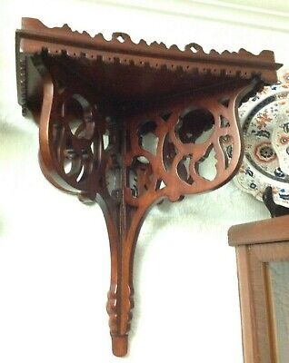 SALE & FREE SHIPPING! Pair of Vintage Large Wooden Wall Brackets