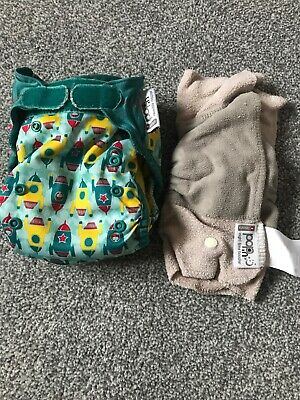 Close Pop In Reusable Cloth Nappy / Rockets / With Night Time Booster