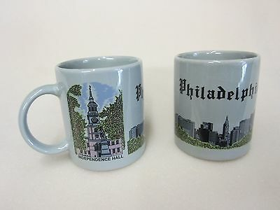 Philadelphia, Pa - Souvenir Coffee Mugs - Se Of 2 Liberty Bell+Independence Hall