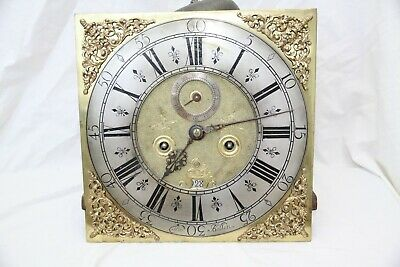 18th century longcase 8 day dial and movement by Thomas Bolton probably 1730s