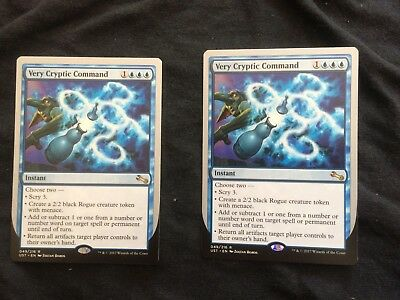 1x Very Cryptic Command (F) (Scry/Create/Add/Return) MTG Unstable M, English