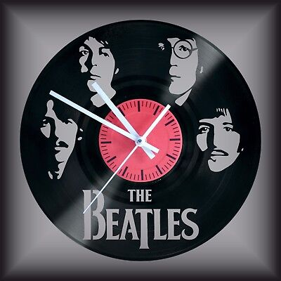 Reloj disco de vinilo LP Regalo original cumpleaños The Beatles ROCK