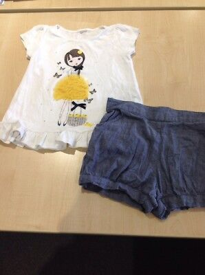 Shorts And T Shirt Outfit, Age 3-4 Years, Tu