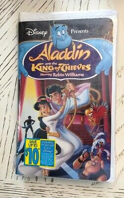 Brand New!! Aladdin & the King of Thieves Disney VHS Robin Williams New Sealed