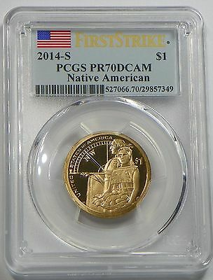 2014-S PROOF SACAGAWEA Native American Dollar Coin PCGS PR70DCAM FIRST STRIKE