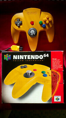 [Boxed] Official Nintendo 64 (N64) Controller / Gamepad - Yellow