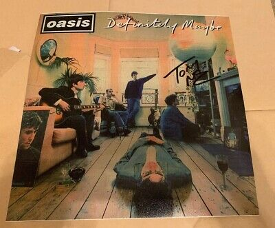 Tony McCarroll -  Signed Oasis - Definitely Maybe 12x12 photo -UACC RD