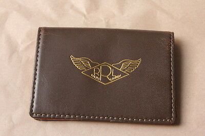 RRL Brown Leather A-2 WWII Card Wallet NWT Ralph Lauren Polo