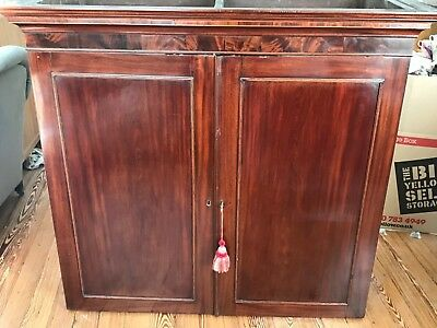Stunning Antique Linen Press Wardrobe Victorian Mahogany 19th Century Circa 1875