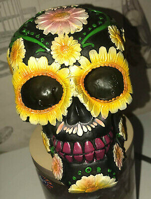 latex mould for making THIS SUNFLOWER SKULL