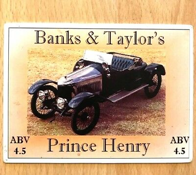 Vauxhall Prince Henry Beer Pump Clip Banks & Taylor Brewery Vintage Classic Car