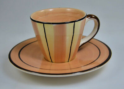 Hand Painted Demitasse Cup & Saucer By Herman Dodge & Son Inc Valencia CA