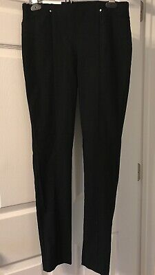 377df0341a1a3d NWT CALVIN KLEIN Women Size XS 0 Stretch Pull-On Wide-Waistband Pants NEW