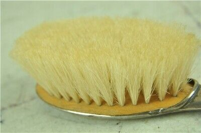 Antique Hallmarked Sterling Silver Hairbrush by J&RG 1916 - Soft bristles VGC