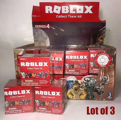 Roblox  Series 4 Blind Pack Lot Of 3 Boxes