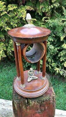 Beautiful Antique Vintage Brass And Wood Clock Surround With Skeleton *