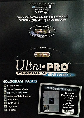 25 x Ultra Pro 9-Pocket Platinum Page For Standard Size Cards (11 Holes)